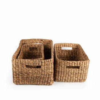 Rectangular water hyacinth baskets (set of three) | Gallery 2 | TradeAid