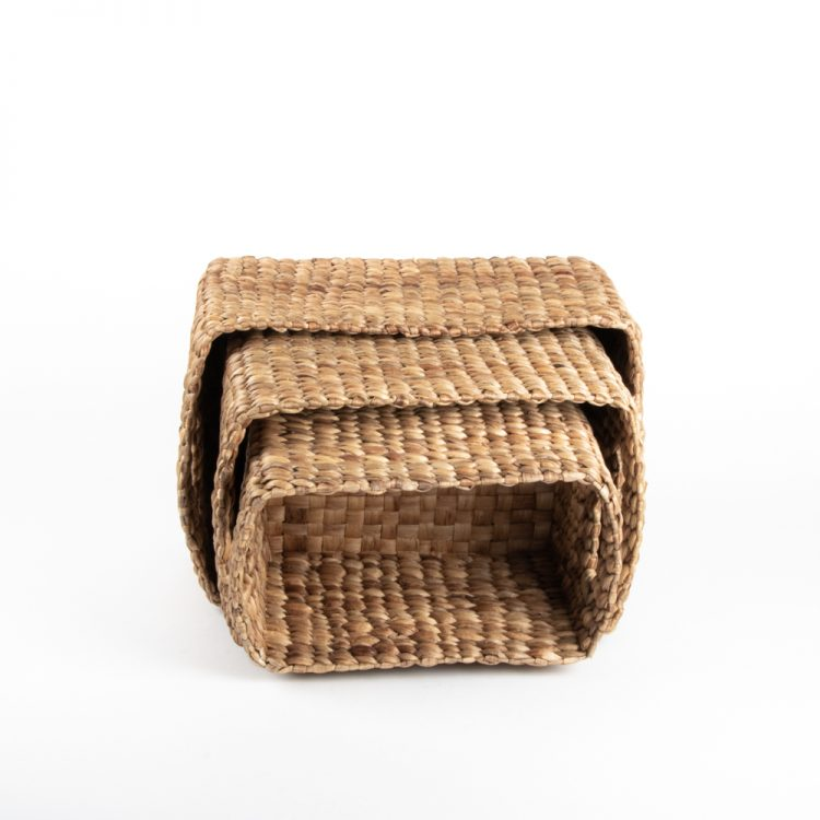 Rectangular water hyacinth baskets (set of three) | TradeAid