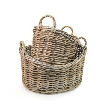 Rattan oval baskets (set of two) | TradeAid