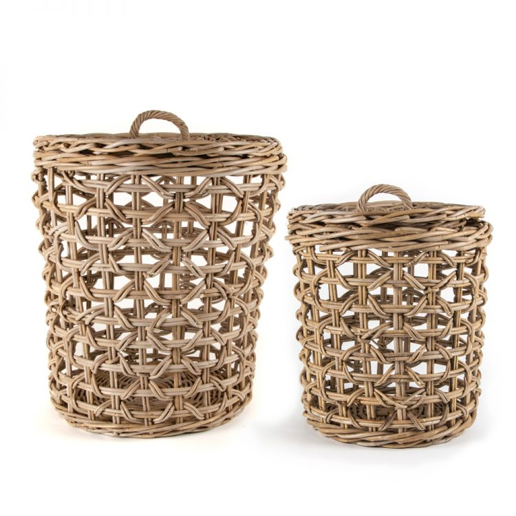 Lidded laundry baskets (set of two) | TradeAid