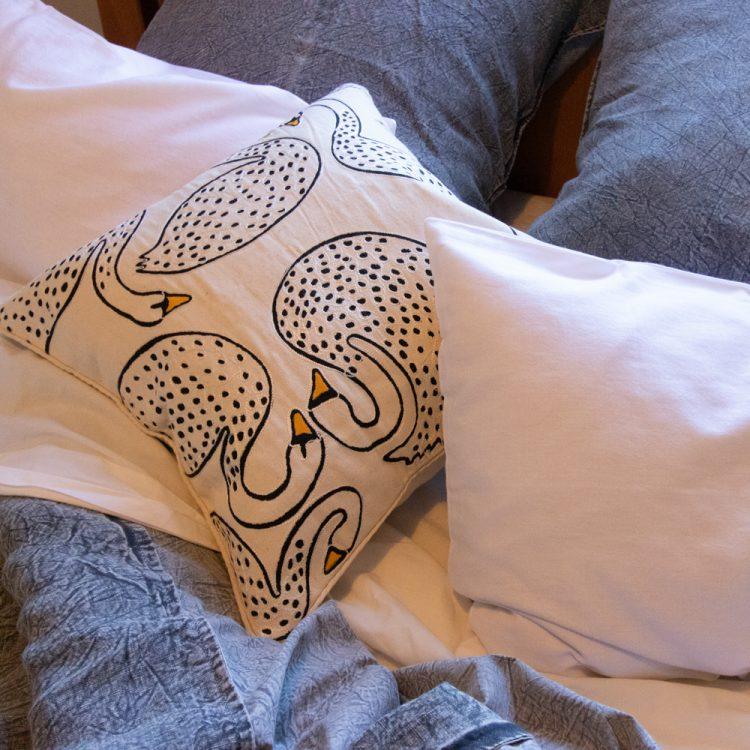 Swan cushion cover   TradeAid