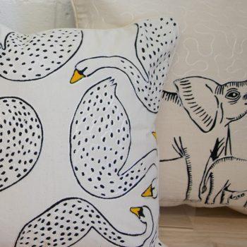 Swan cushion cover   Gallery 2   TradeAid