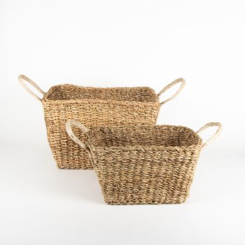 Hogla basket with jute handles (set of two) | TradeAid