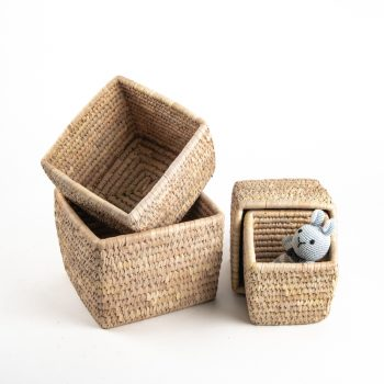Square date palm baskets (set of four) | Gallery 1 | TradeAid
