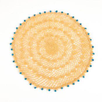 Yellow lace doily | TradeAid