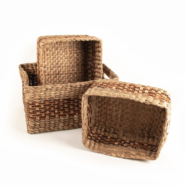 Water hyacinth and rope baskets (set of three) | TradeAid