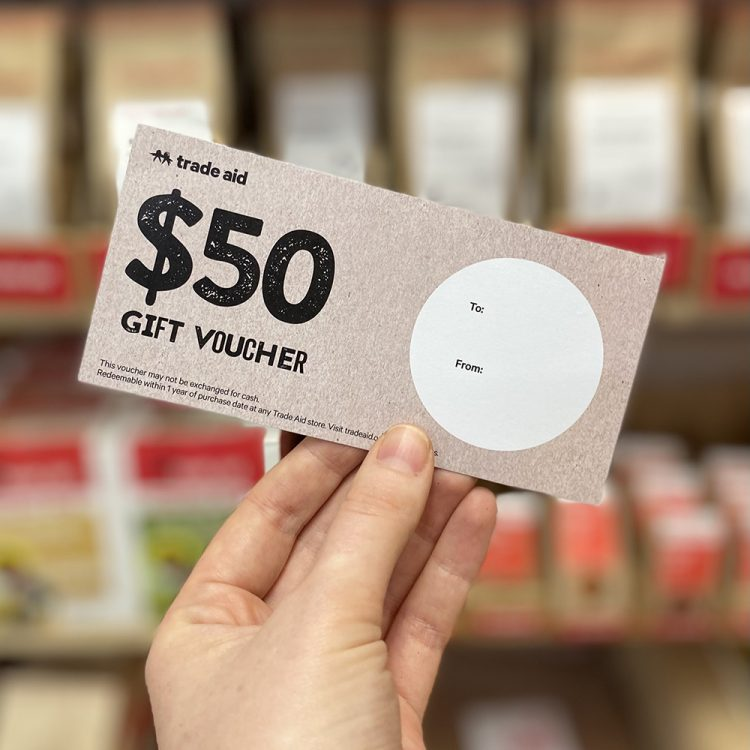 $50 gift voucher   TradeAid