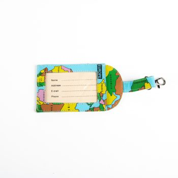 Wold map luggage tag | TradeAid