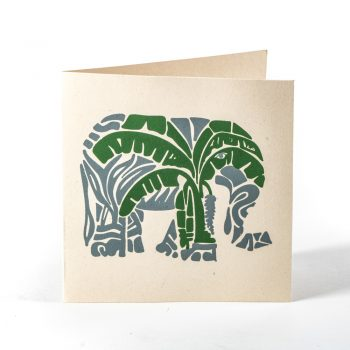 Elephant and tree card | TradeAid