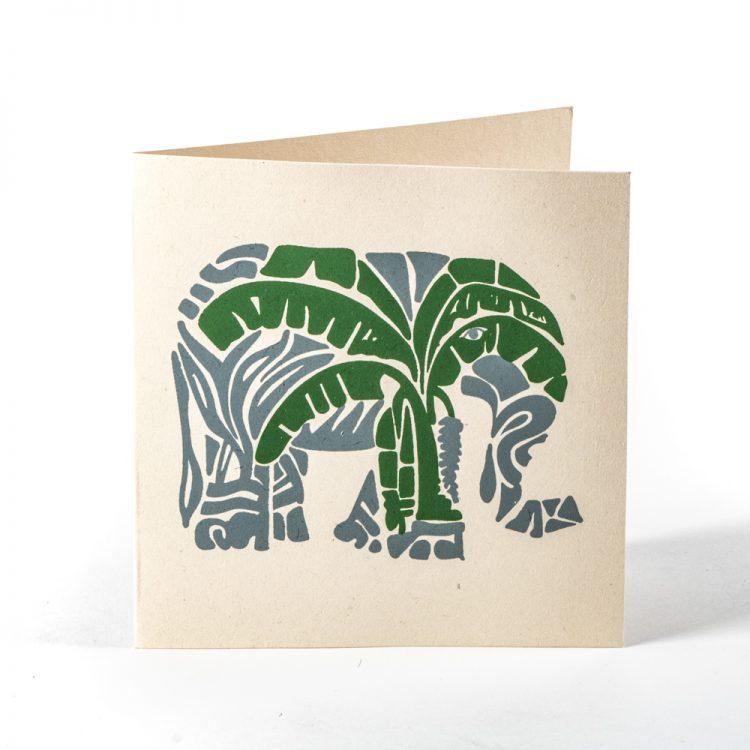 Elephant and tree card | TradeAid