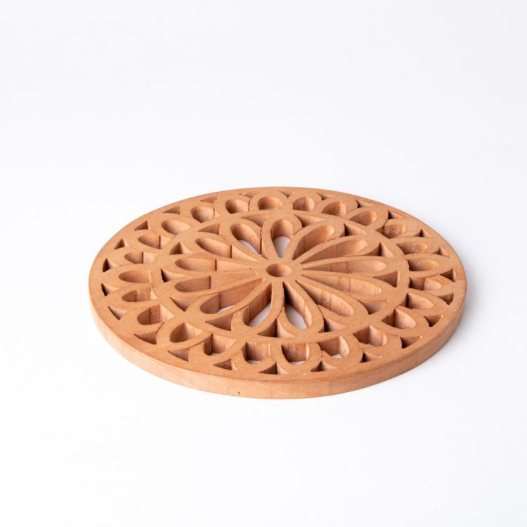 Wooden floral trivet | TradeAid
