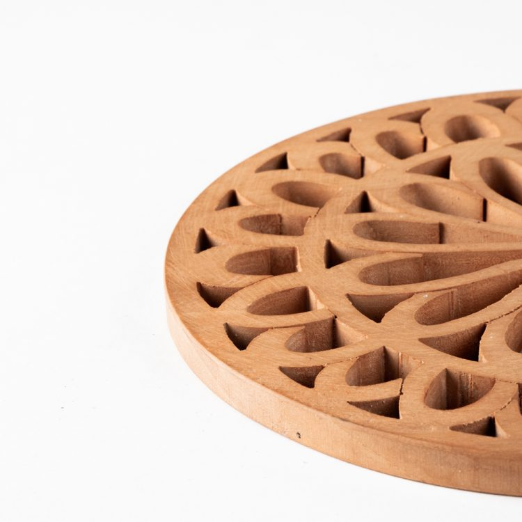 Wooden floral trivet | Gallery 2 | TradeAid