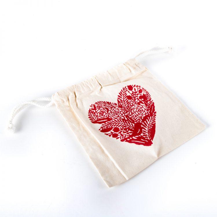 Heart block print bag   TradeAid