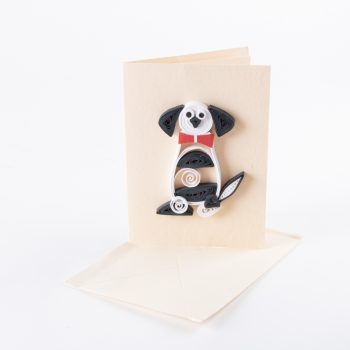 Quilled dog card | TradeAid