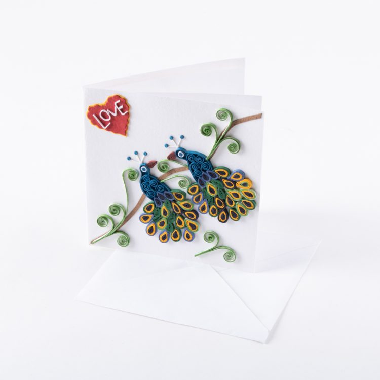 Quilled peacock card | Gallery 1 | TradeAid