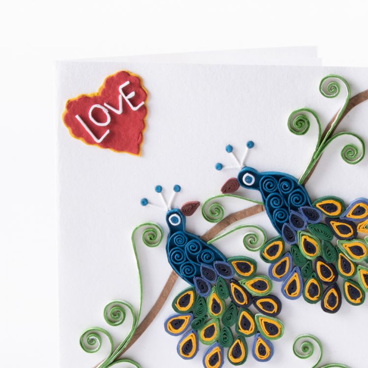 Quilled peacock card | Gallery 2 | TradeAid