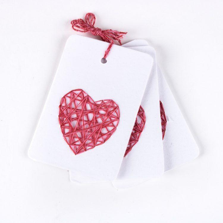 Red heart tag set.3 | TradeAid