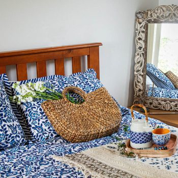 Super king duvet cover with rose block print | Gallery 1 | TradeAid