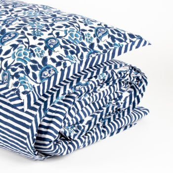 King duvet cover with rose block print | Gallery 2 | TradeAid