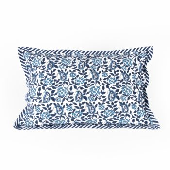 Indigo rose pillow case | TradeAid