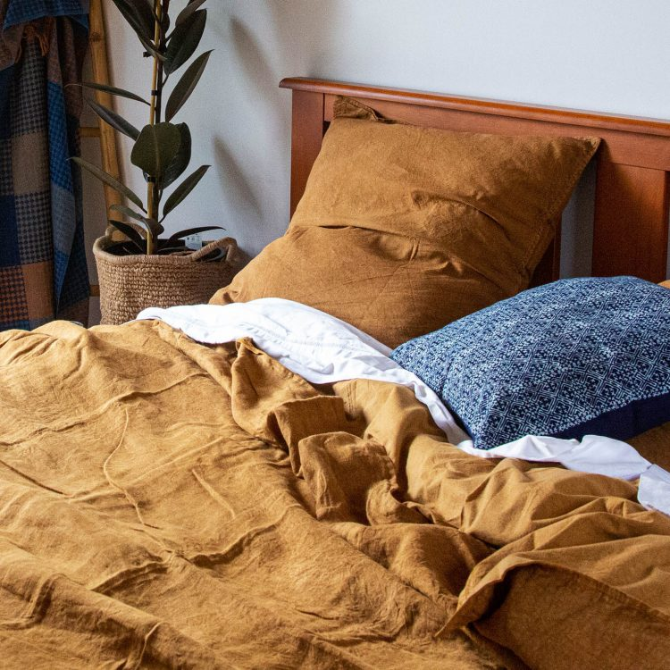 Queen washed linen duvet cover | TradeAid