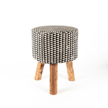 Block print stool | TradeAid