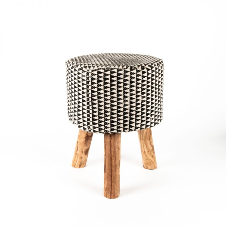 Block print stool | TradeAid