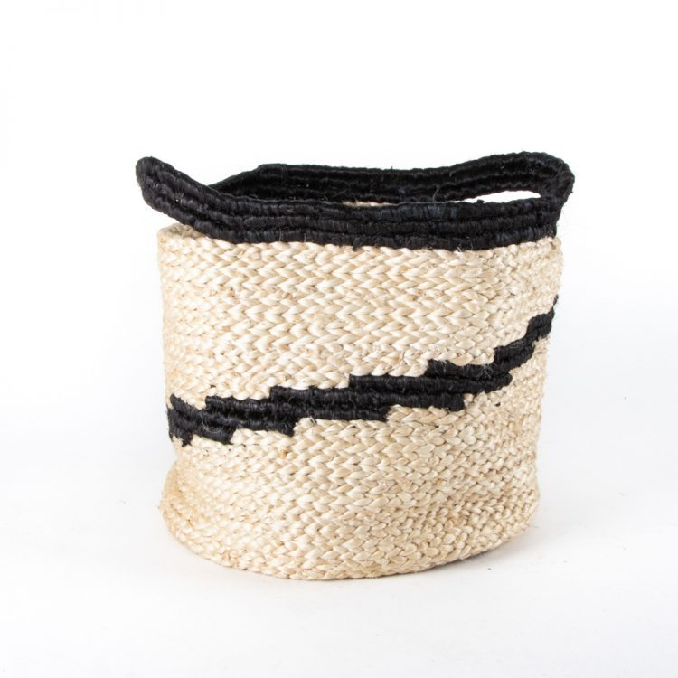 Black spiral jute basket | Gallery 1 | TradeAid