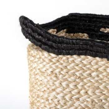 Black spiral jute basket | Gallery 2 | TradeAid