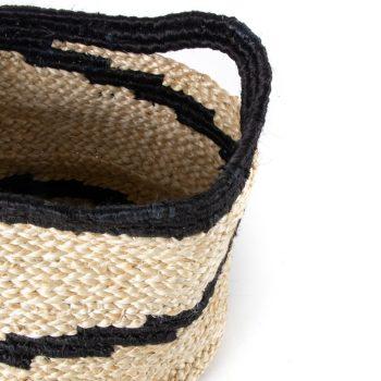 Black spiral jute basket | Gallery 1 | TradeAid