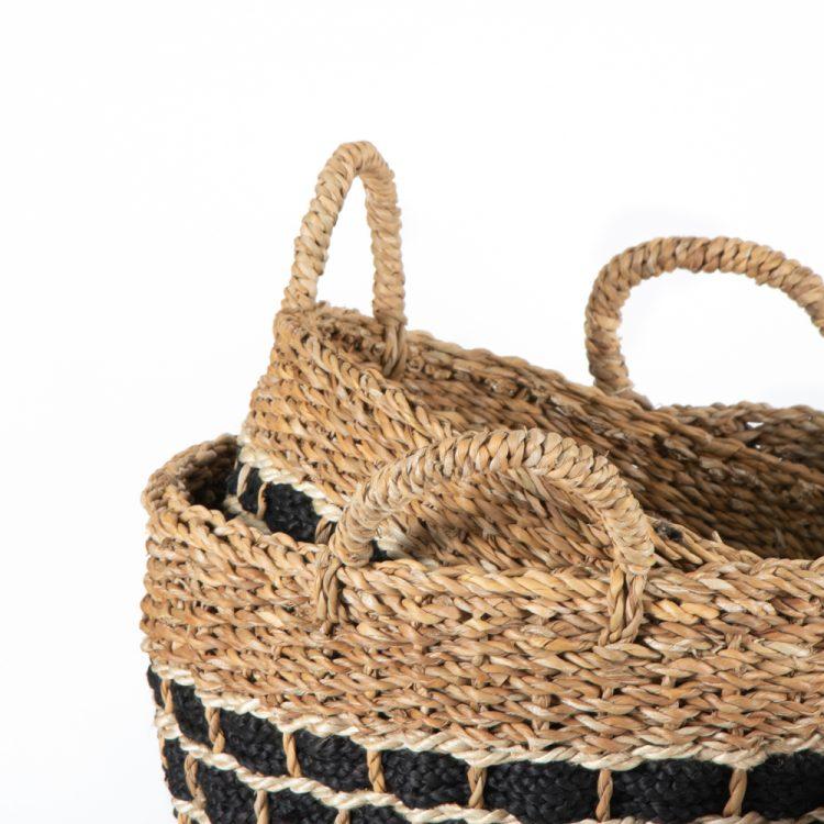 Hogla and jute basket (set of three) | Gallery 2 | TradeAid