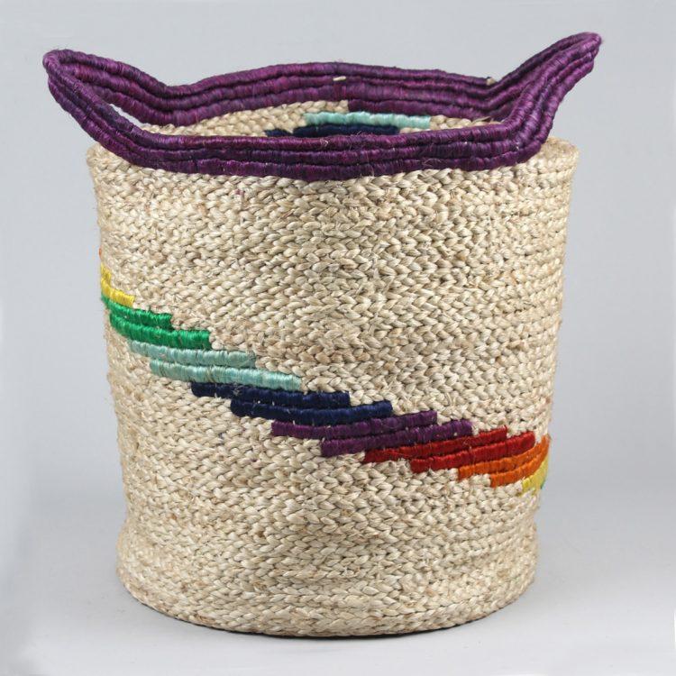 Rainbow jute basket | TradeAid