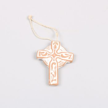 Small whitewash clay cross | TradeAid
