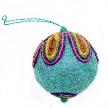 Peacock christmas ball   TradeAid