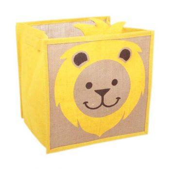 Lion print jute toy box | TradeAid