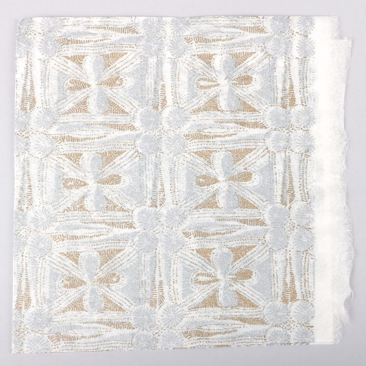 White and gold silk giftwrap | TradeAid
