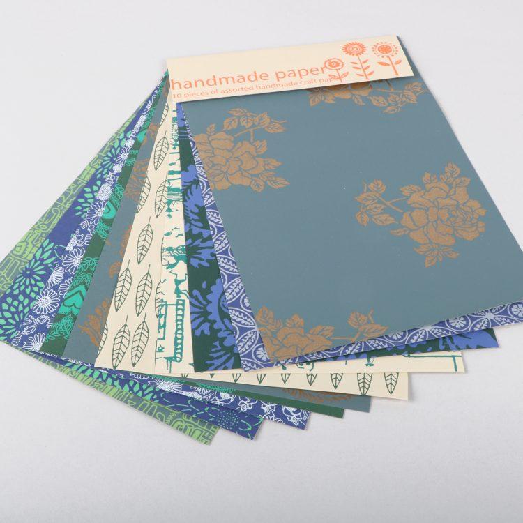 Set of 10 handmade paper   TradeAid