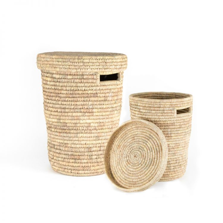 Date palm laundry baskets (set of two) | TradeAid