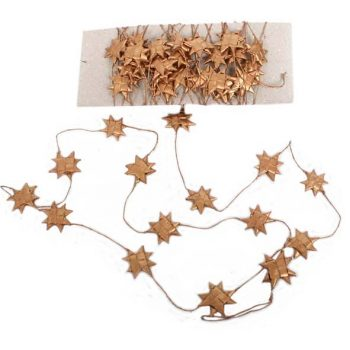 Copper coloured star garland | TradeAid