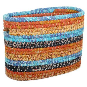 Recycled sari magazine basket | TradeAid