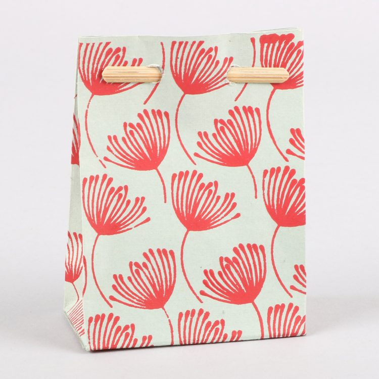 Small gift bag with flower design   TradeAid