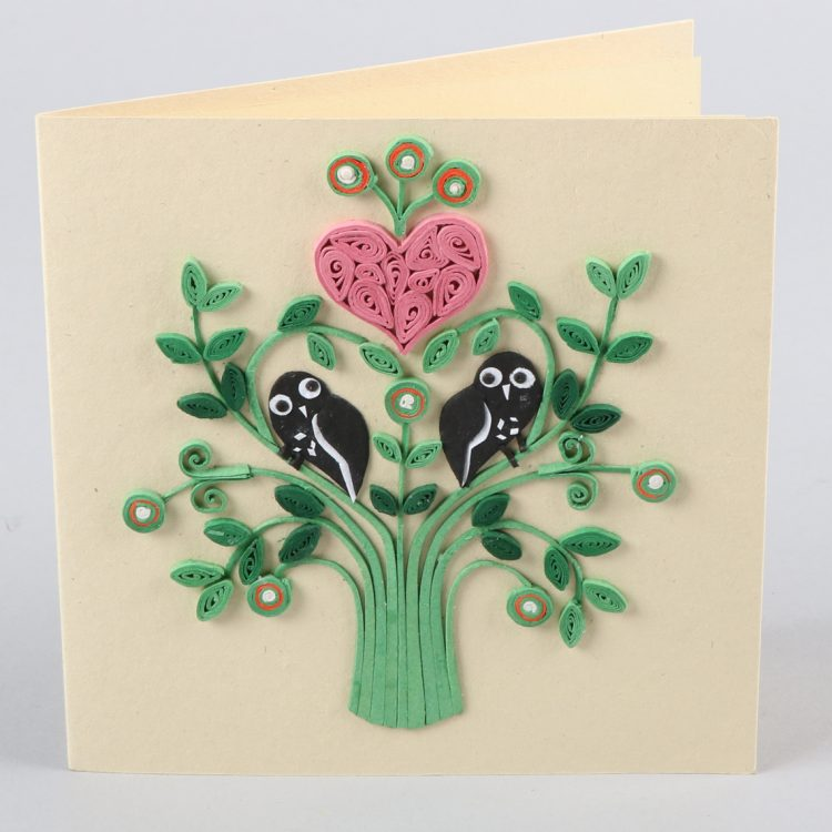 Heart & owl card | TradeAid