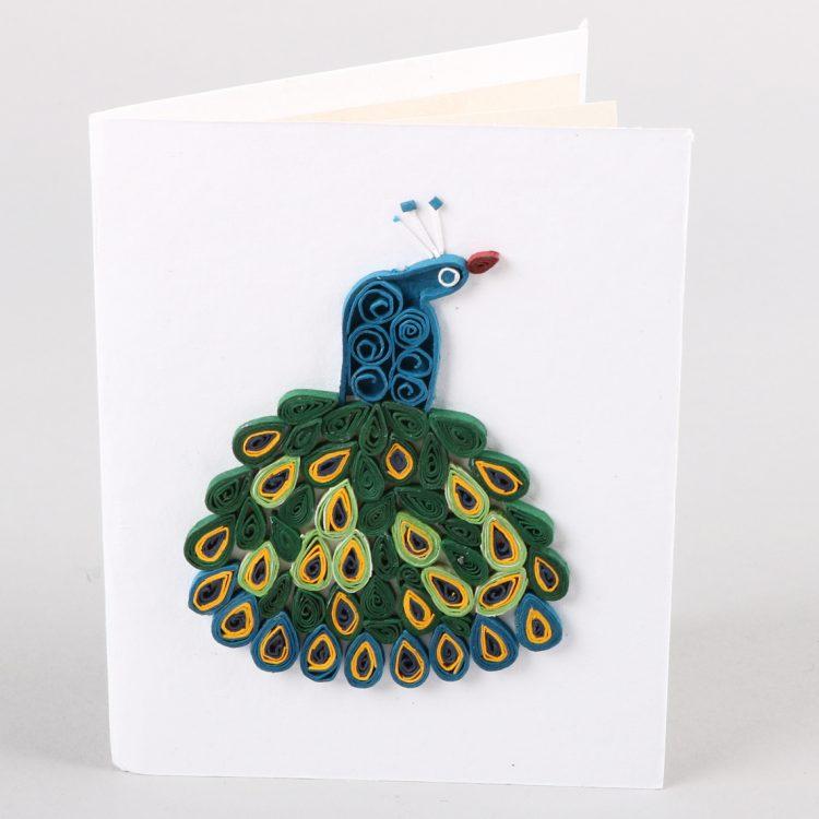 Peacock tail card | TradeAid
