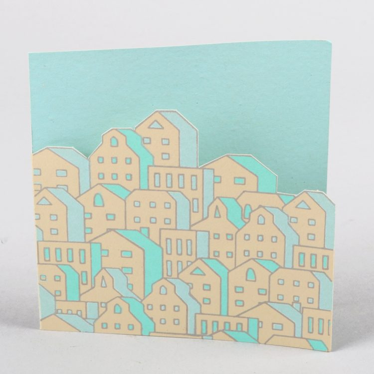 Cut-out city scape card | TradeAid