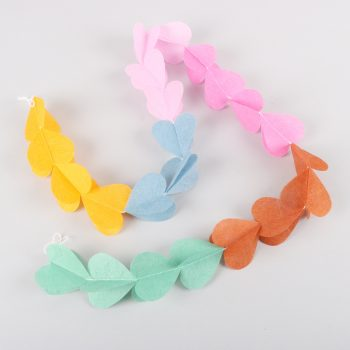 Multicoloured paper heart garland | TradeAid