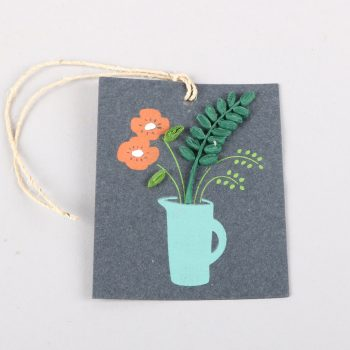 Vase of flowers gift tag | TradeAid