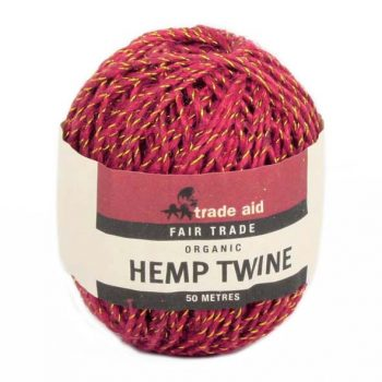 Red and gold hemp twine | TradeAid