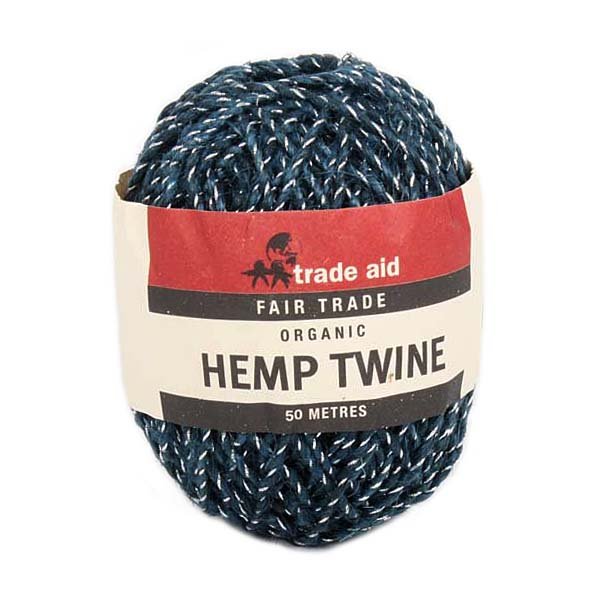 Blue and silver hemp twine | TradeAid