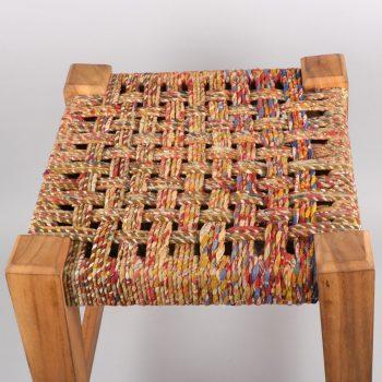 Recycled sari stool   Gallery 1   TradeAid