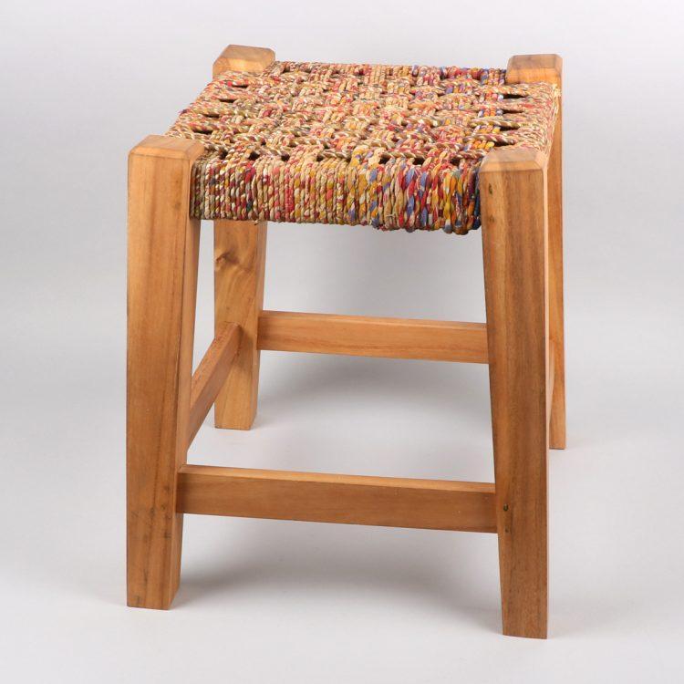 Recycled sari stool   TradeAid